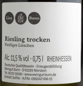 Fleißiges Lieschen_Riesling_Etikett
